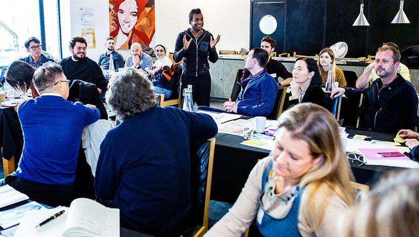 Creative Leadership open Masterclass at the RCA, 2019 (photo: Adam Hollingworth)
