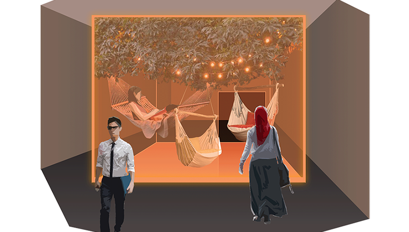 Concept visualisation for workplace design solutions to support wellbeing and performance, Juliette Poggi
