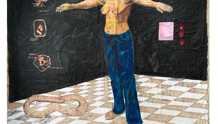 Anusha Alamgir, Self Portrait, 2021 RCA Contemporary Art Summer School