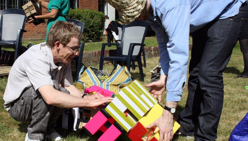 Participants with autism exploring sensory preferences, 2011 (Katie Gaudion)