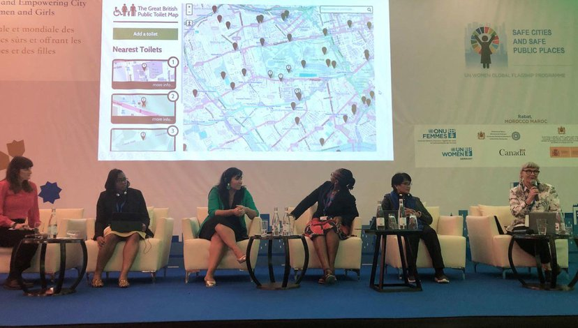 Prof Jo-Anne Bichard speaking at Fifth UN Women Safe Cities and Safe Public Spaces Global Leaders' Forum, Rabat, Morocco, 2020