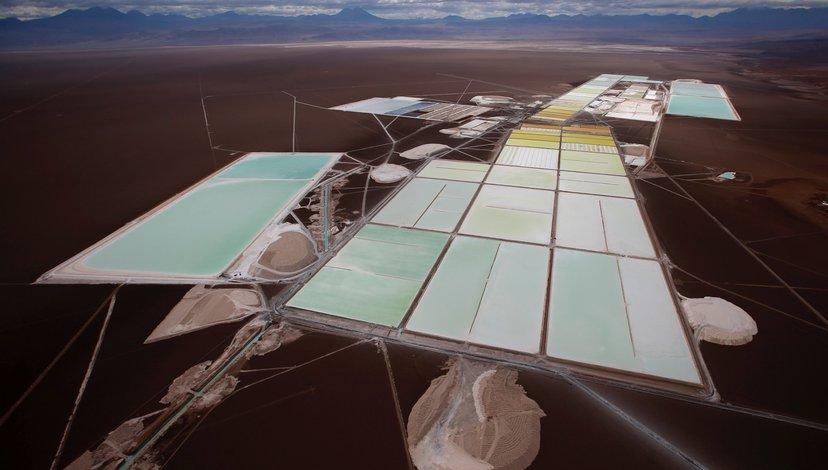 Lithium evaporation pools, Atacama, Chile