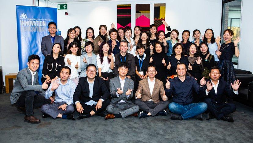 Fudan Masterclass innovation workshop group image