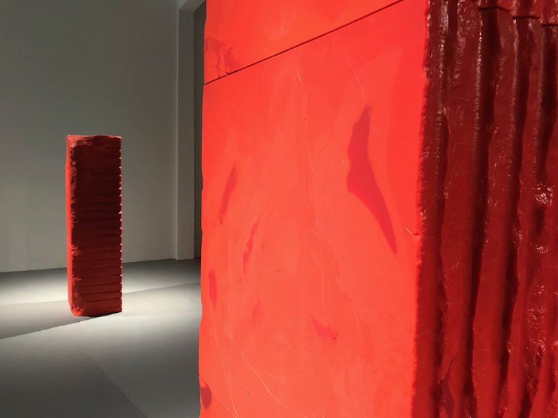 Shanghai Museum of Glass red monoliths