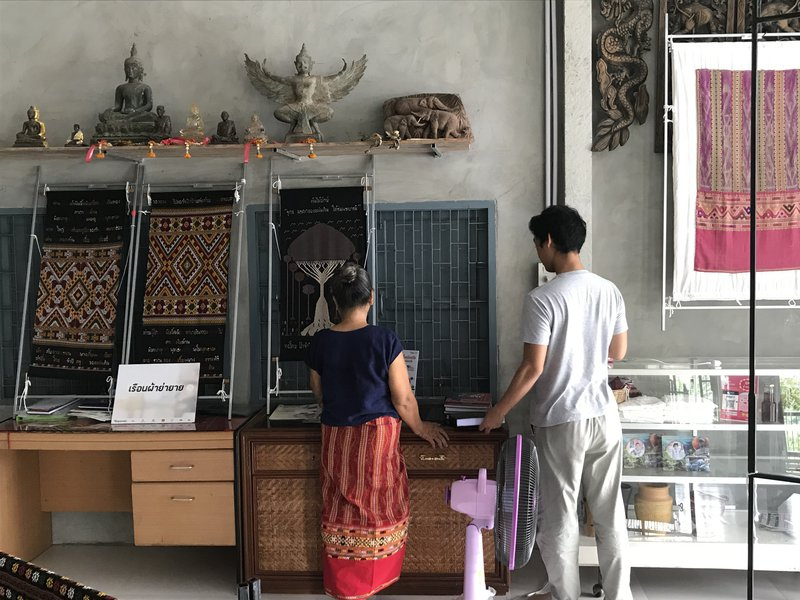 Weavers studio Ban Rai. 2019 (photographer: Dr Peter Oakley)
