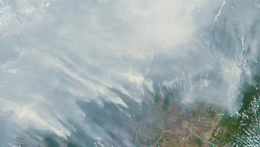 Kalimantan (Indonesian Borneo) Burning, September 2015: NASA Satellite Imagery.
