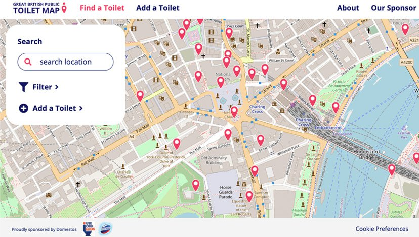 The Great British Public Toilet Map in 2020 https://www.toiletmap.org.uk/